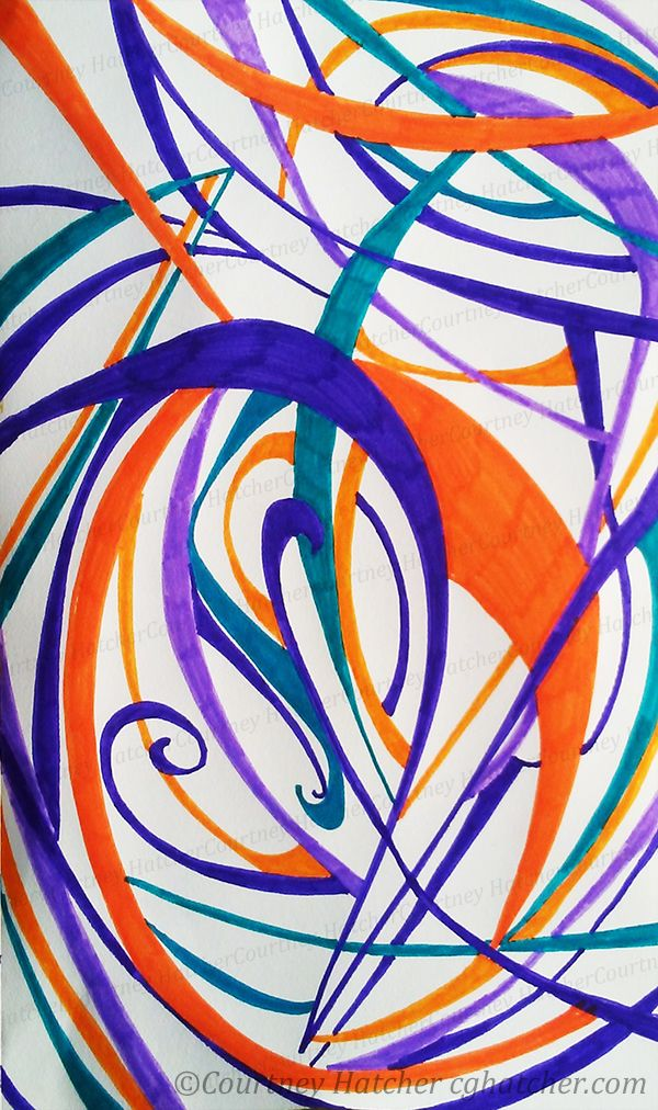 Ink Drawing By Courtney Hatcher Artist Abstract Drawing