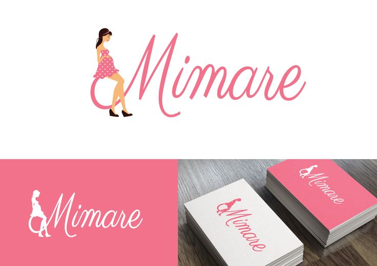 Cute logo for a brand new maternity clothes company.