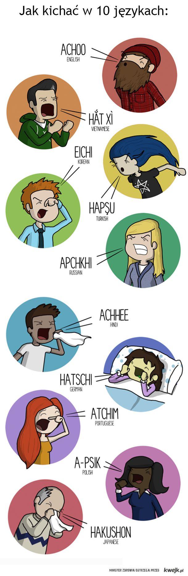 Nauka kichania w 10 językach