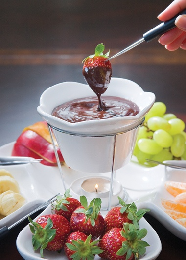 Chocolate Fruit Fondue ( other fondue recipes included)
