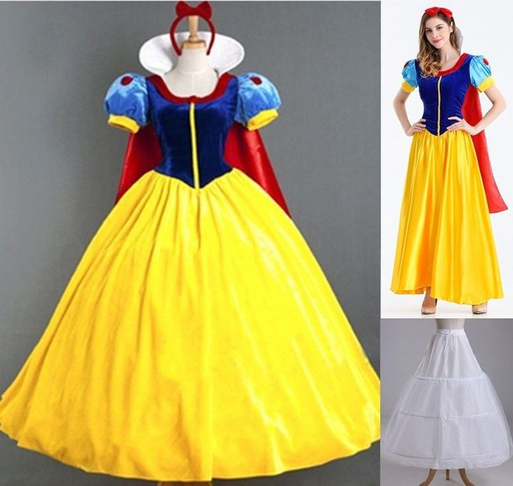 Adult Women Halloween Costume Snow White Princess Queen Fancy Dress S M L XL 2XL #Unbranded #CompleteOutfit #HenParty