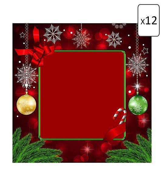 FashionSupreme - Set de 12 șervețele în nuanță bordo cu imprimeu de Crăciun - Pentru casă - Seturi - Sofi - în întâmpinarea Crăciunului. Haine şi accesorii de marcă. Haine de designer.