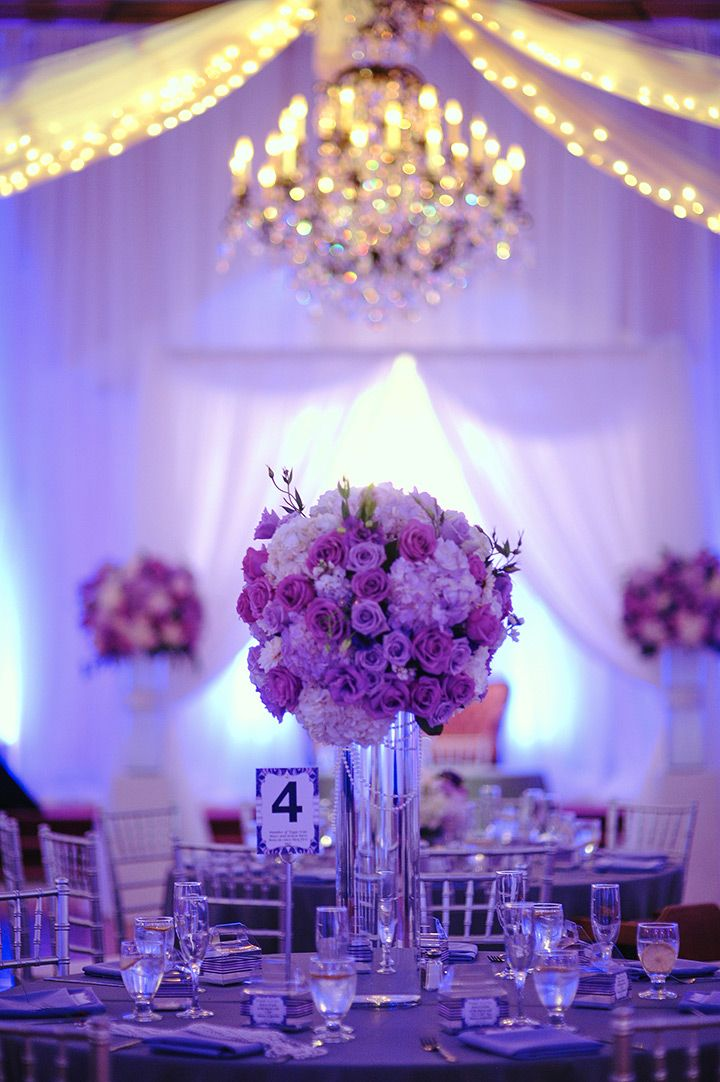 1000 Ideas About Purple Wedding Centerpieces On Pinterest