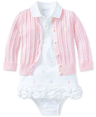 e531350e2 Polo Ralph Lauren Ralph Lauren Baby Girls Pony Perfect Ensemble - Sets &  Outfits - Kids - Macy's