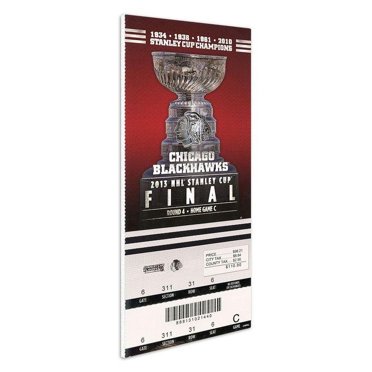 Chicago Blackhawks 2013 Stanley Cup Finals Mega Ticket, Multicolor