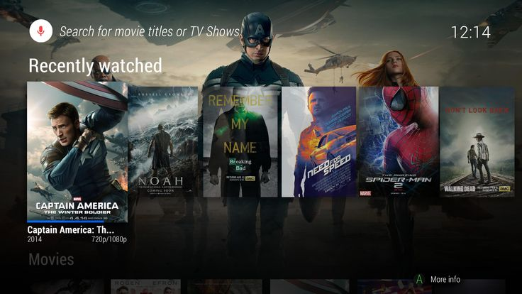 Android TV UI