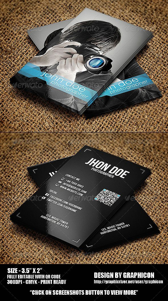 20 best Business Cards for Photographers images on Pinterest ...