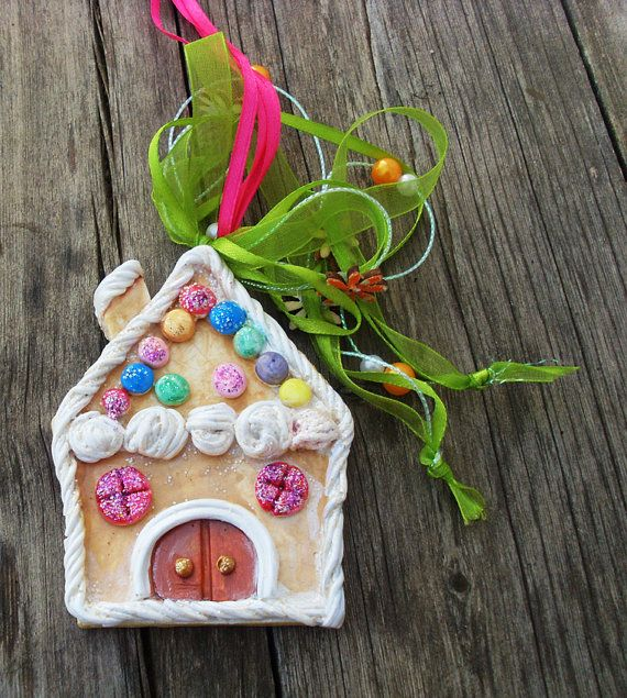 CHRISTMAS GINGERBREAD HOUSE  Ceramic by allabouthandicraft on Etsy
