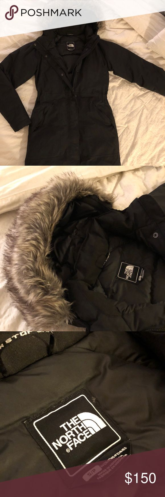 "The North Face: Arctic Parka Long black down insulated parka - form fitting - deflects rain & snow. I am 5'9"" and it falls mid thigh. Wearing the jacket in my profile picture! The North Face Jackets & Coats Puffers"