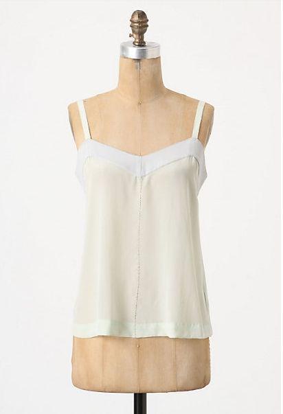 Anthropologie Sleek Foundation Camisole Sz S, Silk Neutral Cami By Feather Bone #FeatherBone