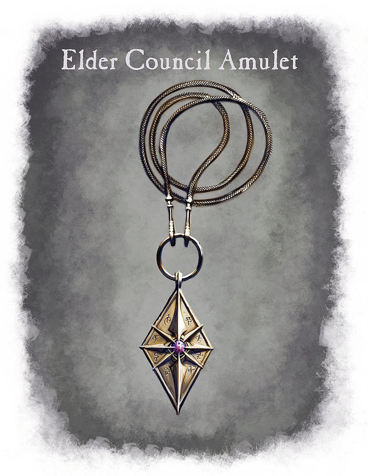 Elder Council Amulet, Ray Lederer on ArtStation at http://www.artstation.com/artwork/elder-council-amulet