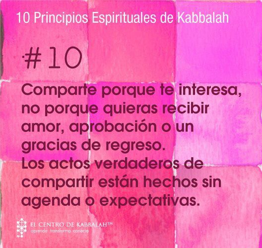 10 Principios Espirituales de Kabbalah