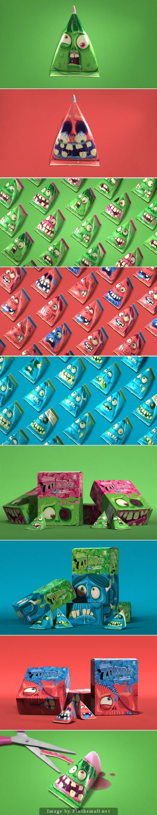 Zombis Freezer Pops #packaging by Brandenburg - http://www.packagingoftheworld.com/2014/10/zombis-freezer-pops.html