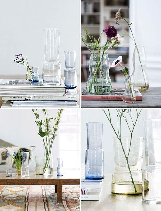 flowers in glass