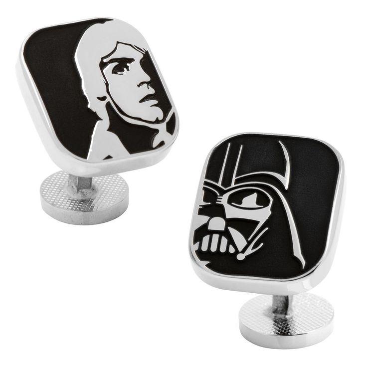 Star Wars Luke Skywalker & Darth Vader Cuff Links, Men's, Black