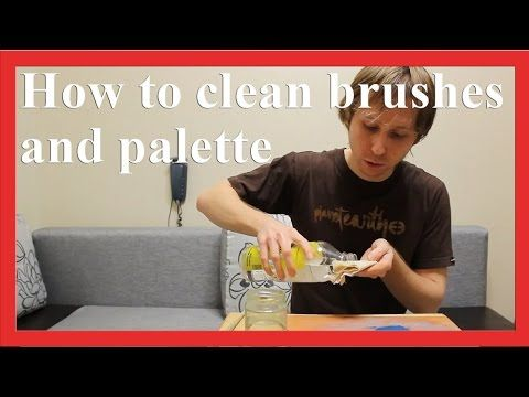 How to clean a brush and a palette from oil paint (subtitles) - www.daniil-belov.com