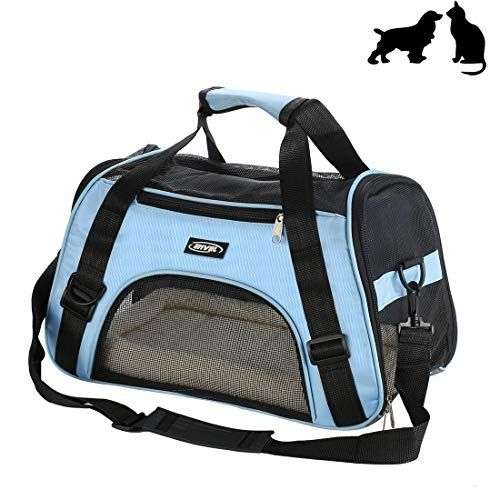 9c0ca5e127 Soft-Sided Pet Carrier Low Profile Travel Tote with Cozy and Soft Dog Bed  Portable