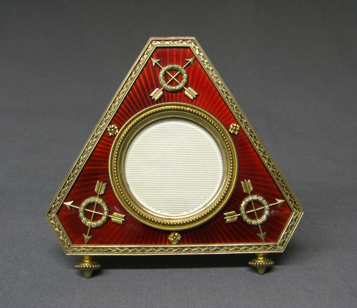 picture frame house of carl faberg date before 1899 culture russian moscow medium silver gilt enamel dimensions overall 5 x 5 in - Enamel Picture Frames