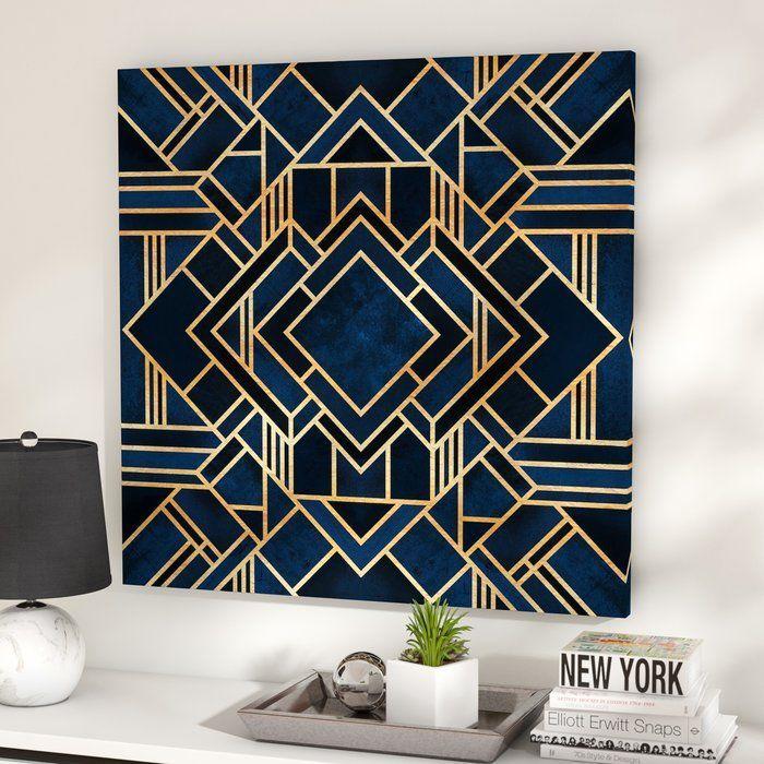 Art Deco Iii Graphic Art Print On Canvas Reviews Allmodern In 2020 Art Deco Bedroom Art Deco Paintings Modern Art Deco