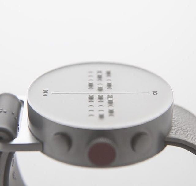 The first moving braille smartwatch for everyone + visually impaired - design @cloudandco ➕ #nowyprodukt