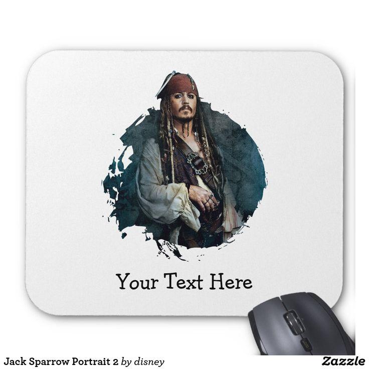 Jack Sparrow Portrait 2. Producto disponible en tienda Zazzle. Tecnología. Product available in Zazzle store. Technology. Regalos, Gifts. #Mousepads