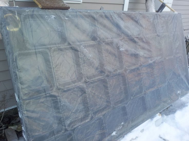 $35  4' x 8' Solar Heater: Made of Aluminum Baking Pans [disposable kind]