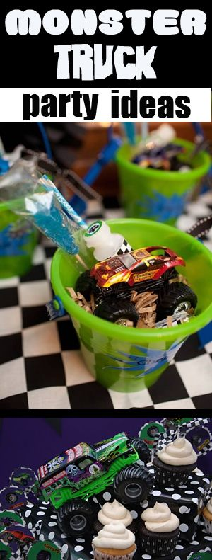 #Monster #Truck party ideas for those of you who have boys that love big tires, loud engines and power to climb & crush!  Here's some digital images to help design your party easier and take the stress off.