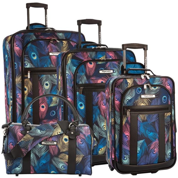 Tracker Peacock Luggage Set