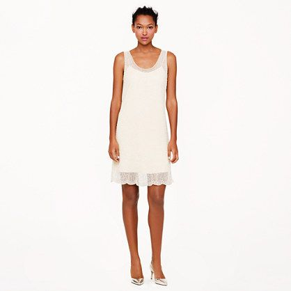 J.Crew - Collection beaded shift dress