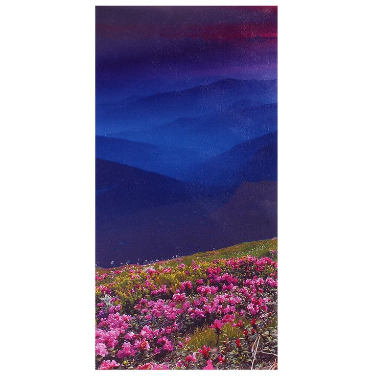 Modern Unframed Mountain Scene Canvas Painting Wall Picture Home Decor
