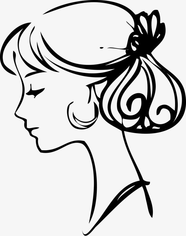 ناقلات جميلة السيدات شعر الجانب الجمال متجه الجمال وتسريحة الشعر جانب من الجمال Png وملف Psd للتحميل مجانا Beautiful Womens Hairstyles Lady