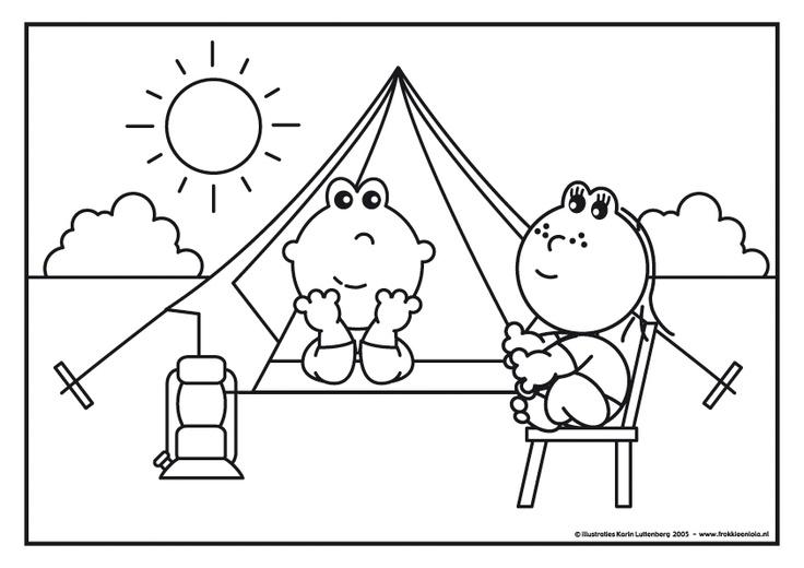 Frokkie en Lola op vakantie met de tent