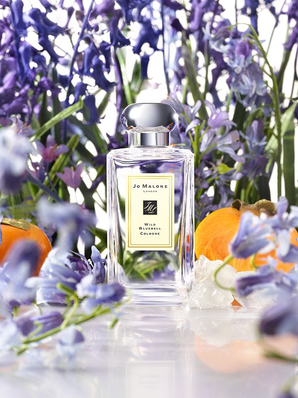 Jo Malone™ Wild Bluebell Cologne : Vibrant sapphire blooms in a shaded woodland. The delicate sweetness of dewy bluebells suffused with lily of the valley and eglantine, and a luscious twist of persimmon. Mesmerising.