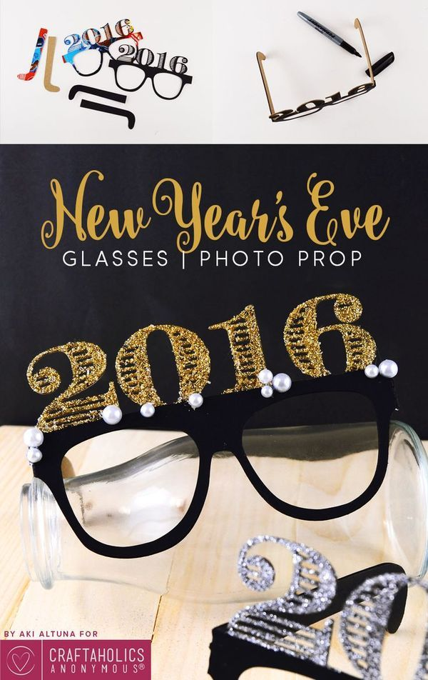 New Year's Eve Fashionable Glasses: a Party idea! Gift your friends with a fun way to bring in the new year!