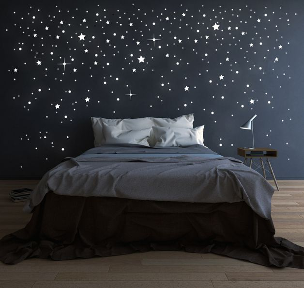 Leuchtsterne zur Wanddekoration / wall stricker stars, decoration by deinewandkunst via DaWanda.com