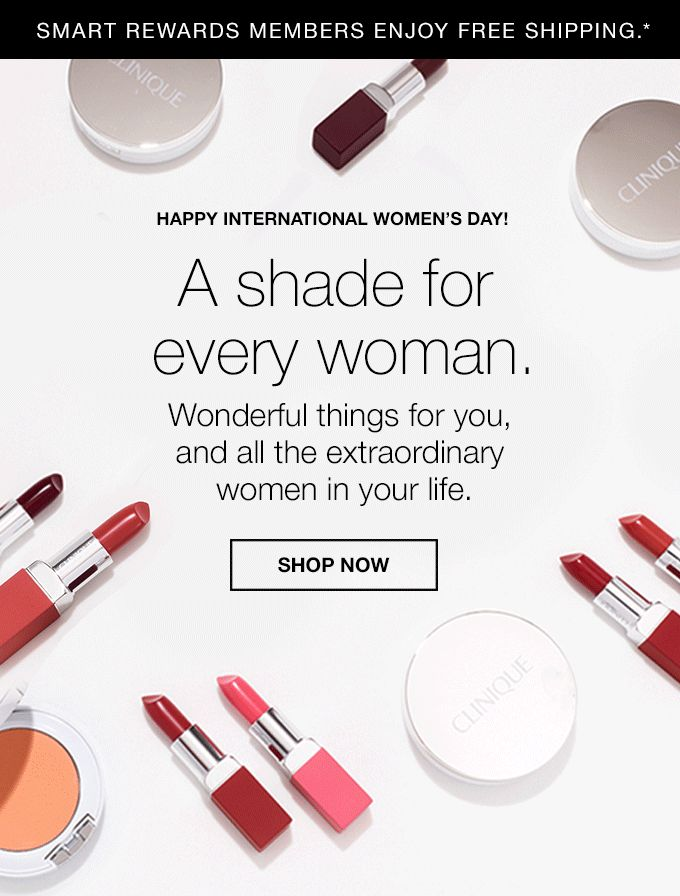 Happy International Women's Day! A shade for every woman. Wonderful things for you, and all the extraordinary women in your life. SHOP NOW