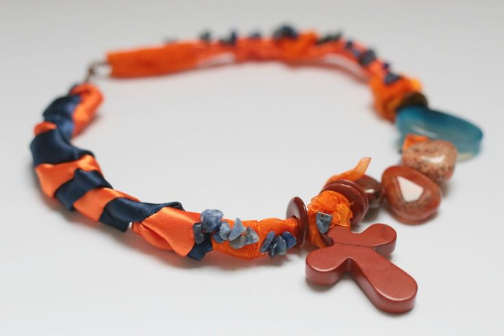 #textile#stones#design necklace
