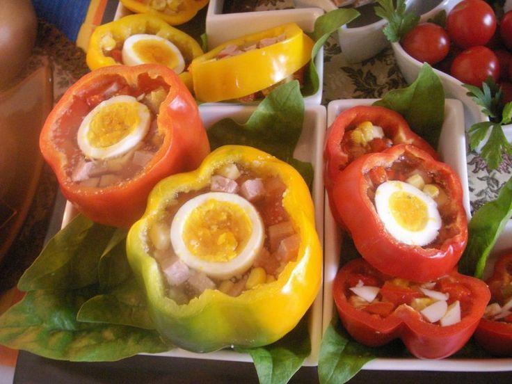 GALARETKA mięsno-warzywna w KOLOROWYCH PAPRYKACH