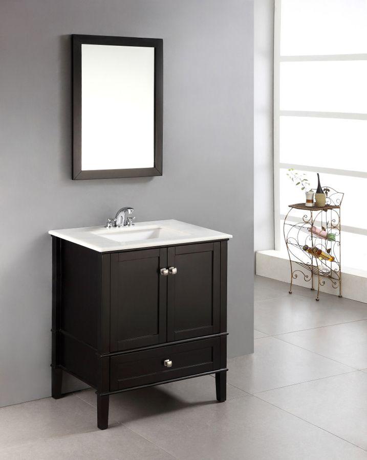 Chelsea Black Bathroom Vanity 30 Inch Nl Rosseau Es 30 2a