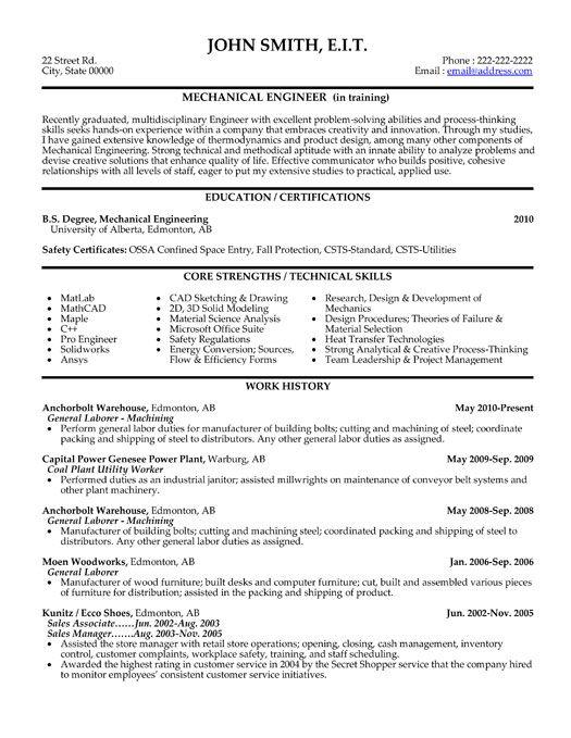 10 best Best Mechanical Engineer Resume Templates \ Samples images - best chosen resume format