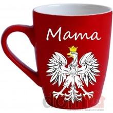 Ceramic Mama Mug with Polish White Eagle - Kubek Mama z Bialym Orlem. 12oz. Made in Poland. #mothersday