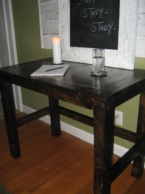 study in style on a handmade desk