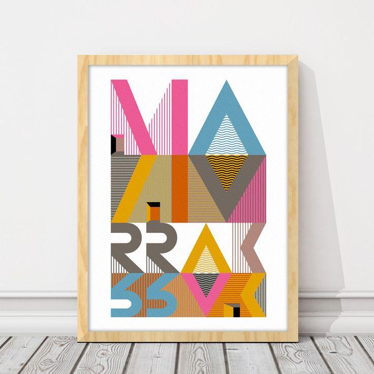 Marrak 30x40. Tipografía