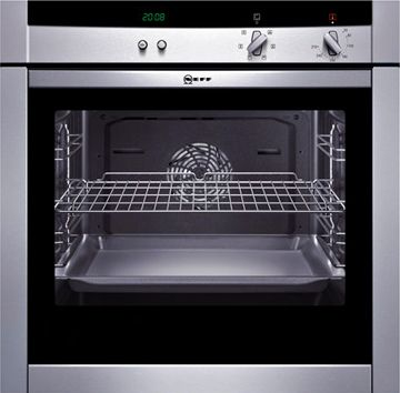 NEFF wall oven with a slide and hide door.  Ease of use and simply sexy in the kitchen
