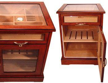 Οι υγραντήρες πούρων των Cuban crafters cabinet humidors φημίζονται για την υψηλή ποιότητα κατασκευής. Ένα καλό δείγμα της ικανότητας της φίρμας είναι ο υγραντήρας -έπιπλο από σπάνιο αφρικανικό ξύλο Budinga στο εξωτερικό του, ενώ το