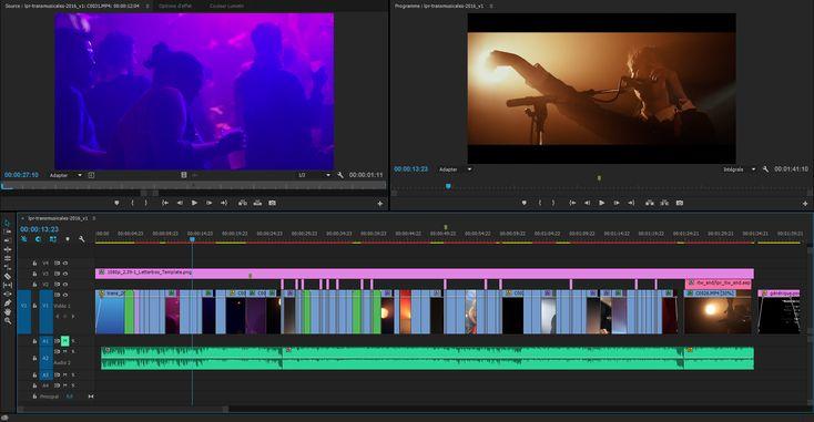 Montage vidéo avec timeline Premiere Pro de la vidéo aftermovie du festival Trans Musicales de Rennes 2016