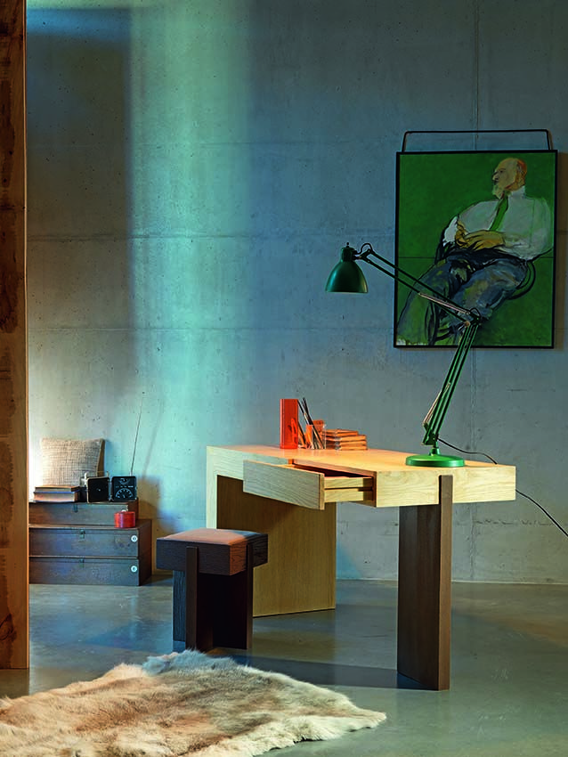 D164 desk feasible in all dimensions with drawer. 100% hand made in Italy www.marchettimaison.com