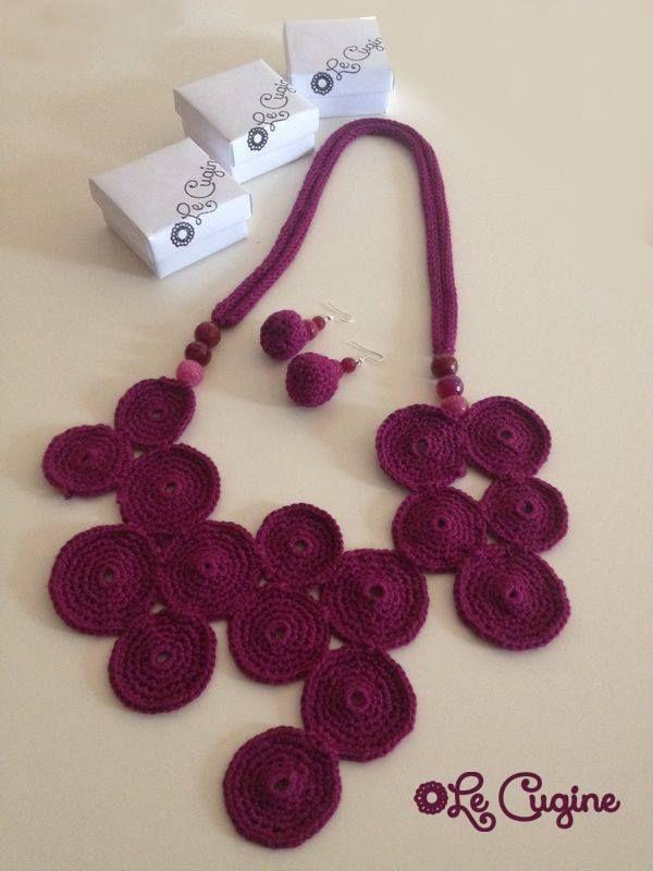 #creazioni #fattoamano #handmade #orecchini #uncinetto #tricottino #pietre #crochet #parure #bracciale #collana #orecchini