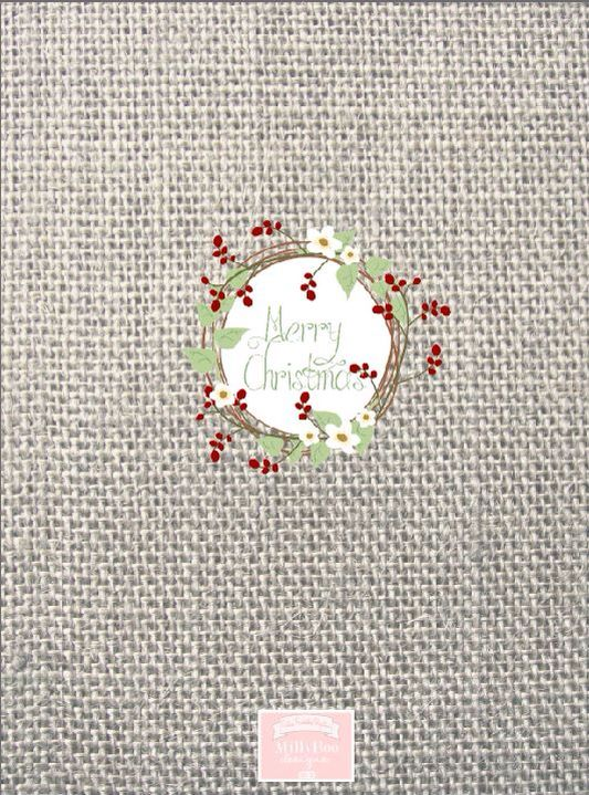 Burlap berry wreath Chocolate wrapper printables by MillyBoo Designs