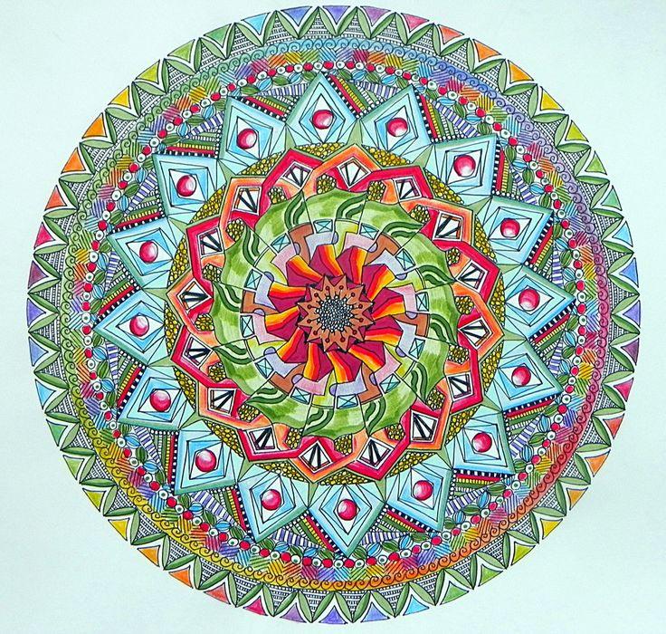 Like a Flower Mandala coloured by Lou-in-Canada.deviantart.com on @DeviantArt